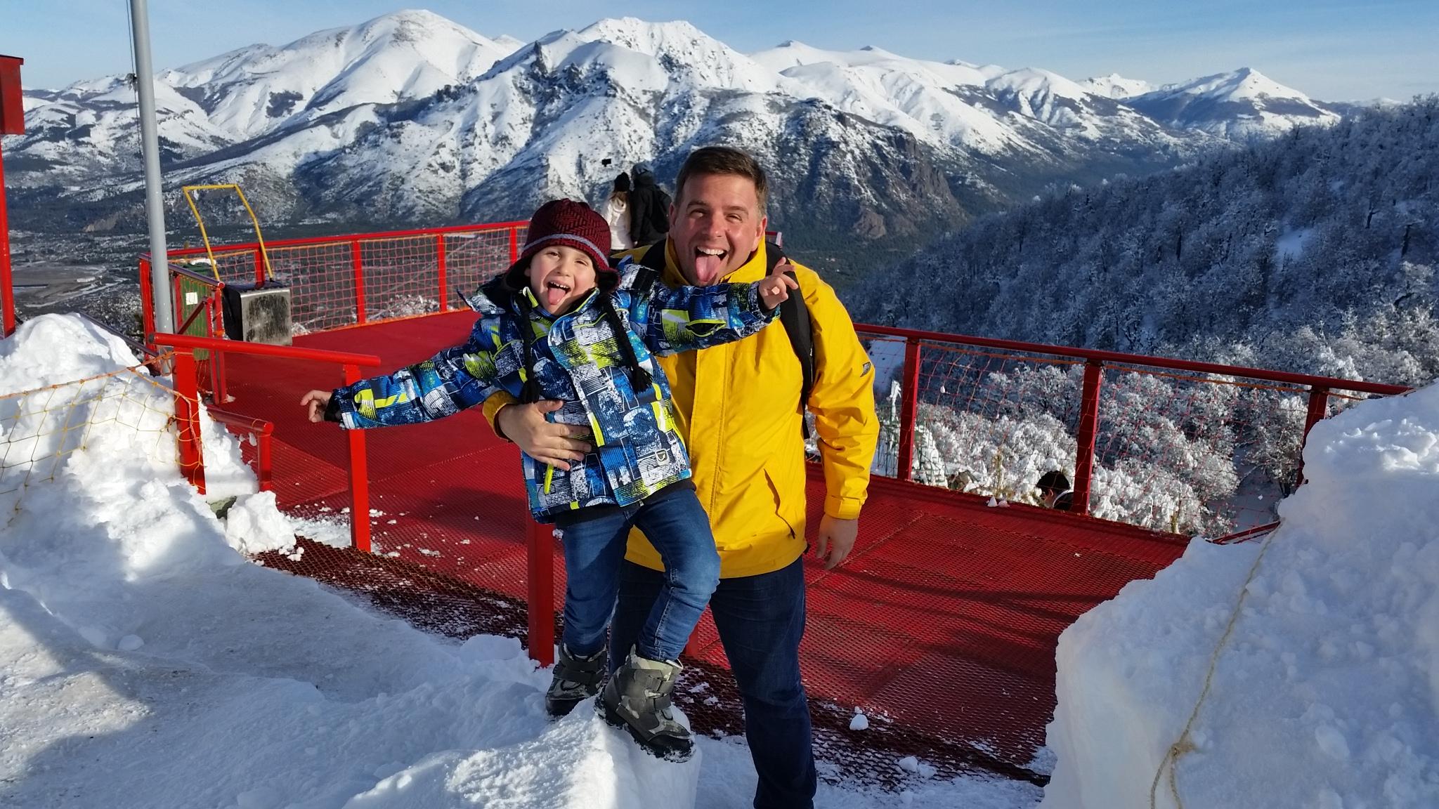 Na neve de Bariloche com a família Mazzei